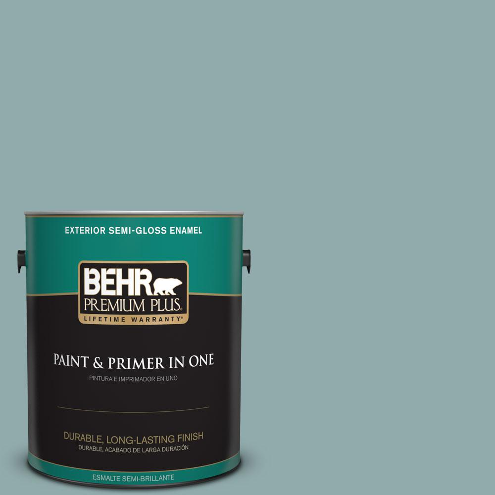 BEHR Premium Plus Home Decorators Collection 1-gal. #HDC-CL-25 Oceanus Semi-Gloss Enamel Exterior Paint
