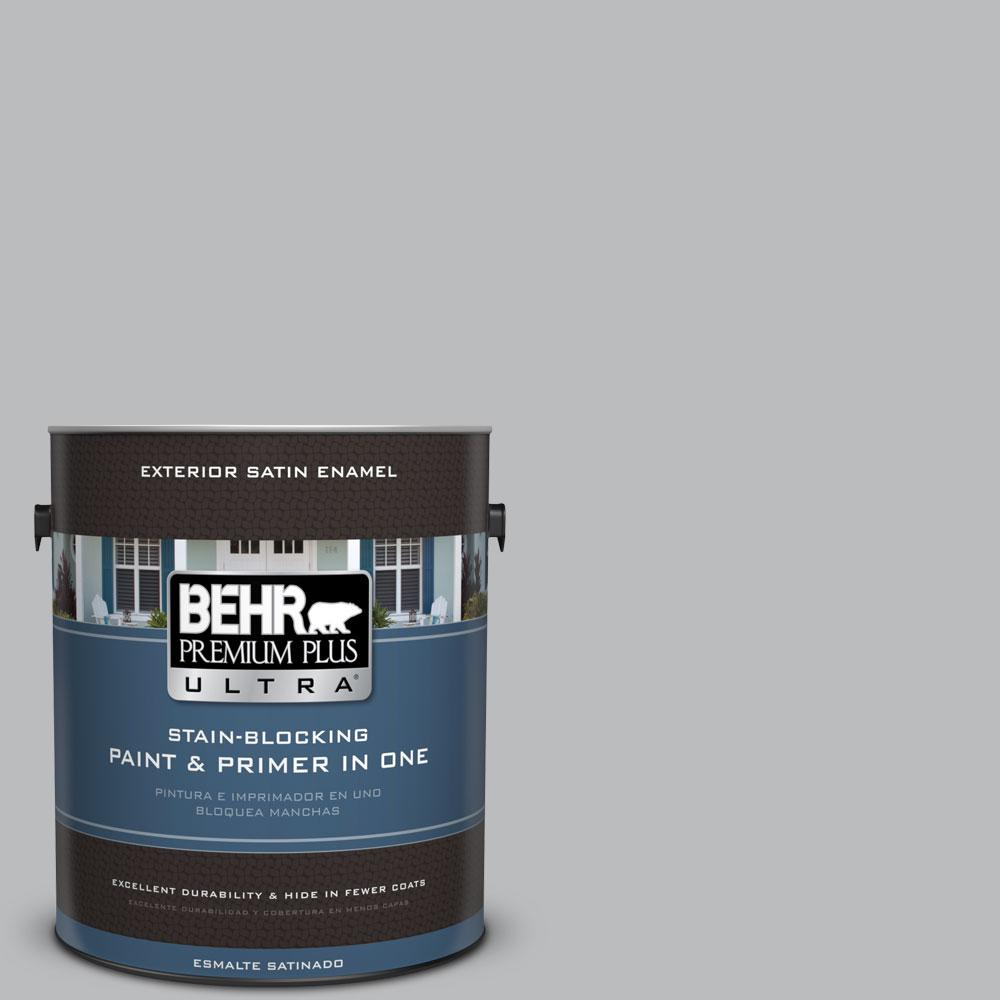 1-gal. #PPU18-5 French Silver Satin Enamel Exterior Paint