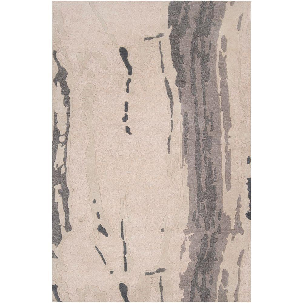 Candice Olson Winter White 5 ft. x 8 ft. Area Rug