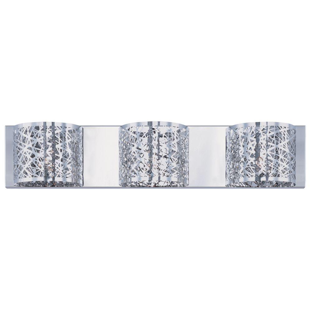 Bathroom Light Fixtures With Crystals thomas lighting 4-light chrome wall vanity light-sl74024 - the