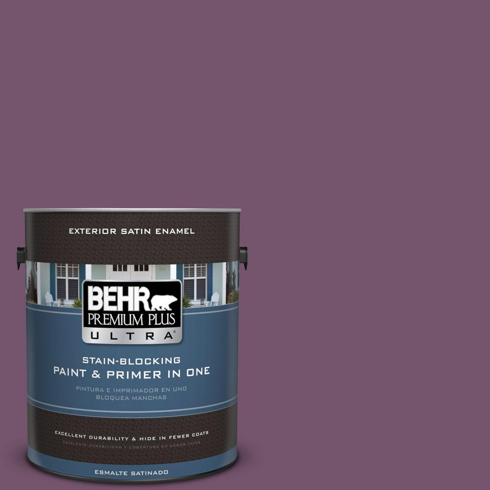 1-gal. #PMD-87 Exotic Orchid Satin Enamel Exterior Paint