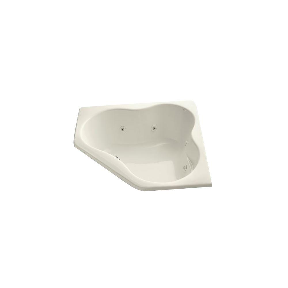 ProFlex 4.5 ft. Acrylic Oval Drop-in Whirlpool in Biscuit