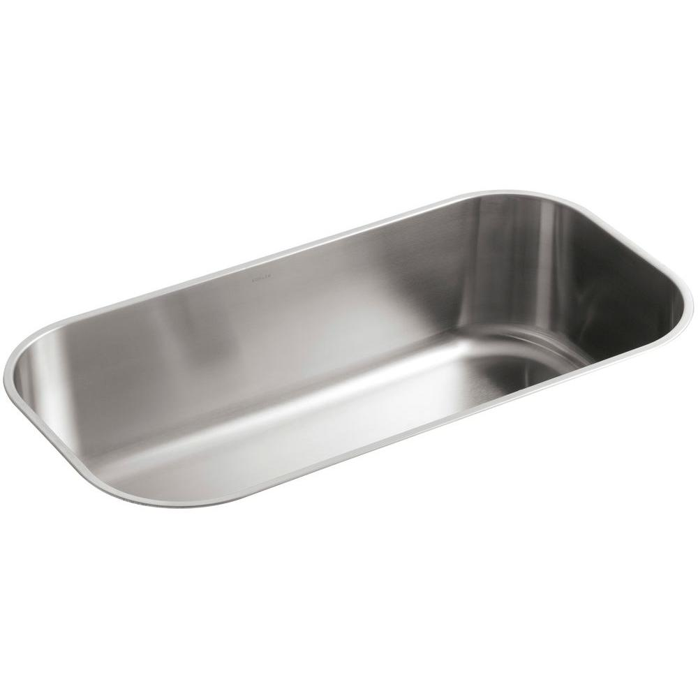 KOHLER Undertone Undermount Stainless Steel 36 in. Single Bowl Kitchen Sink