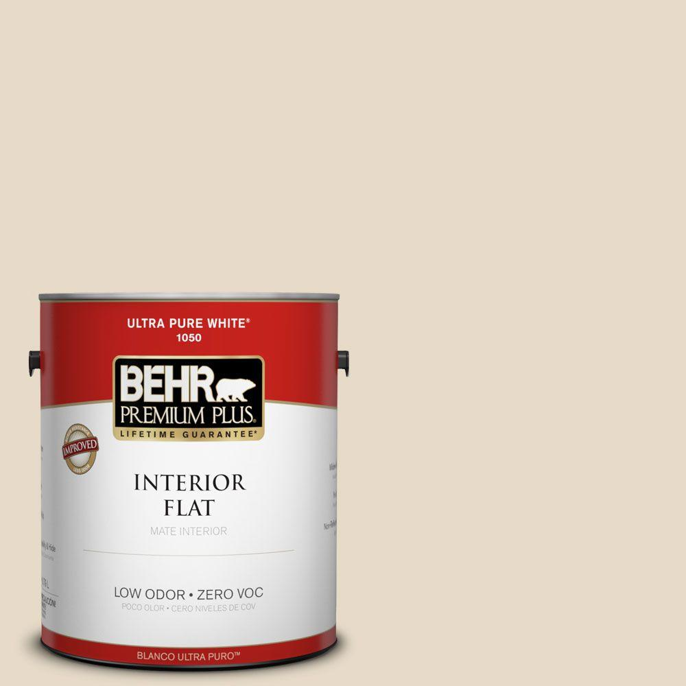 BEHR Premium Plus 1 gal. #23 Antique White Flat Interior Paint-105001