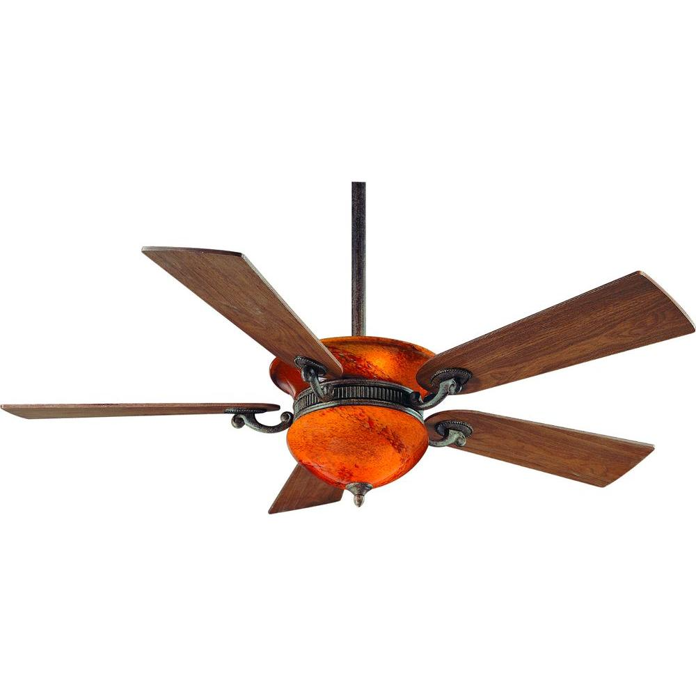 Hampton Bay Rhodes 52 in. Nutmeg Ceiling Fan-34002 - The Home