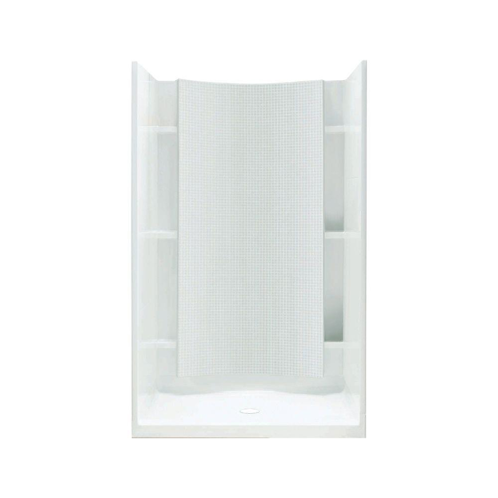STERLING Accord 36 in. x 36 in. x 77 in. Shower Kit with Age-in-Place Backers in White