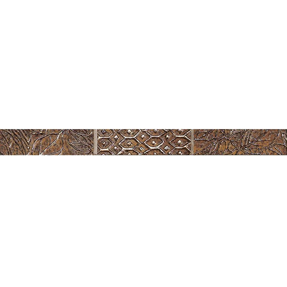 MARAZZI Montagna 1 in. x 13 in. Multi/Metallic Porcelain Listello Floor and Wall Tile