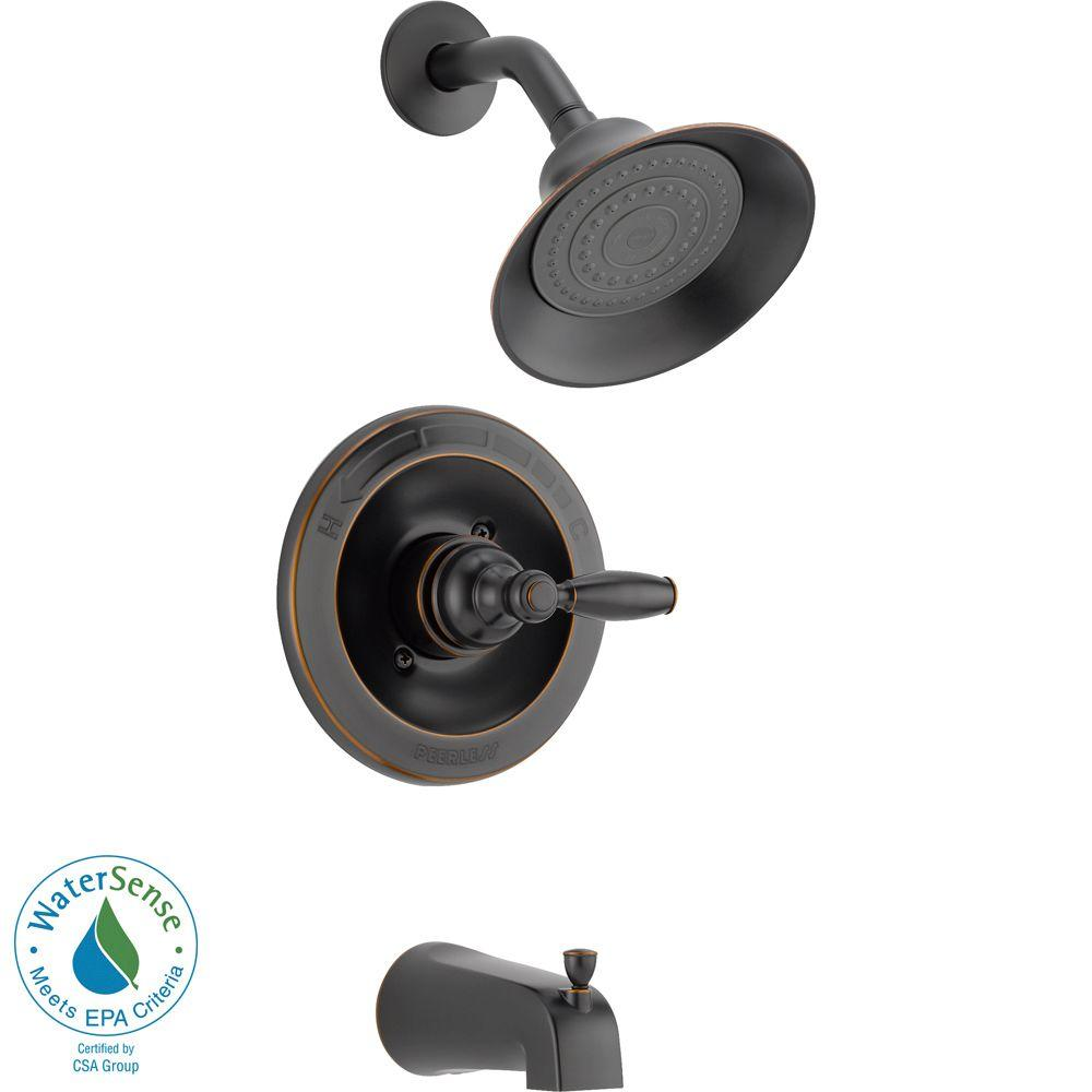 Peerless Single Handle Tub And Shower Faucet Trim Kit In Oil Rubbed Bronze Valve Not Included