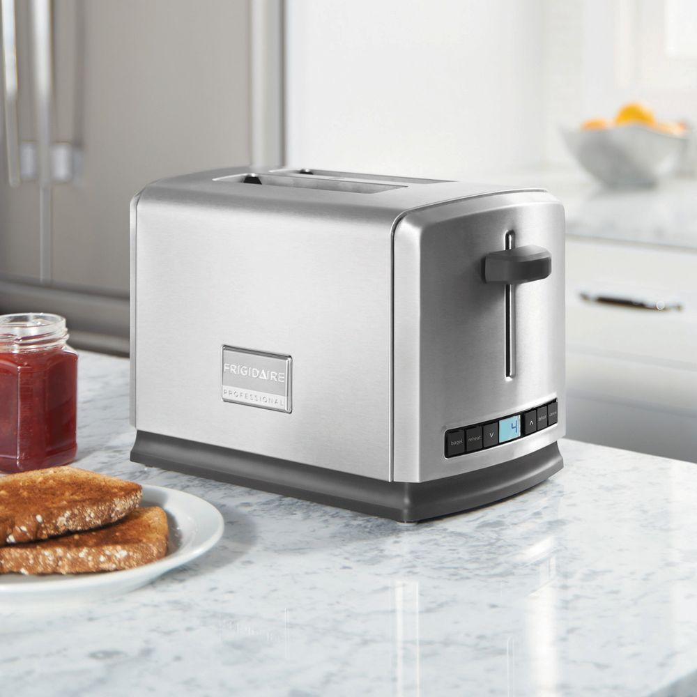 Frigidaire Professional 2-Slice Wide Slots Toaster-FPTT02D7MS - The Home Depot