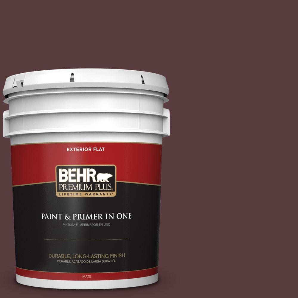 5 gal. #PPU1-02 Divine Wine Flat Exterior Paint
