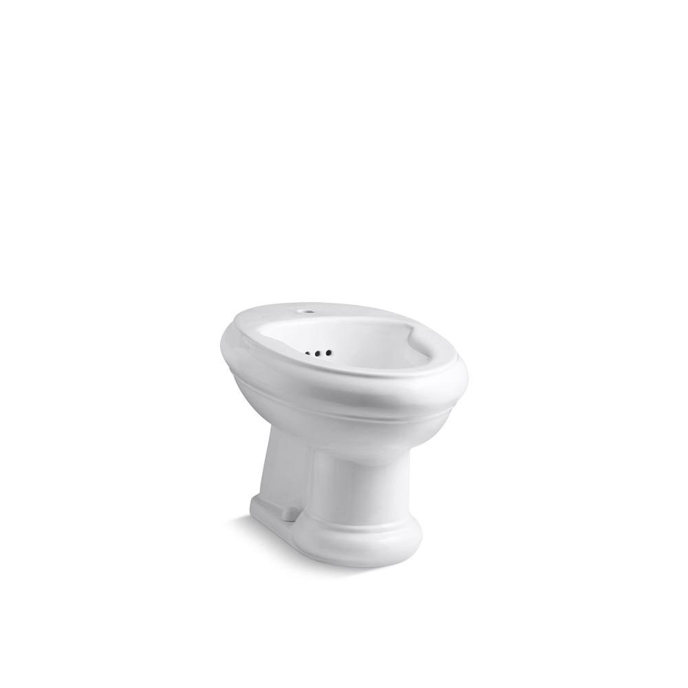 KOHLER Revival Bidet with Single-hole Faucet Drilling in White-DISCONTINUED