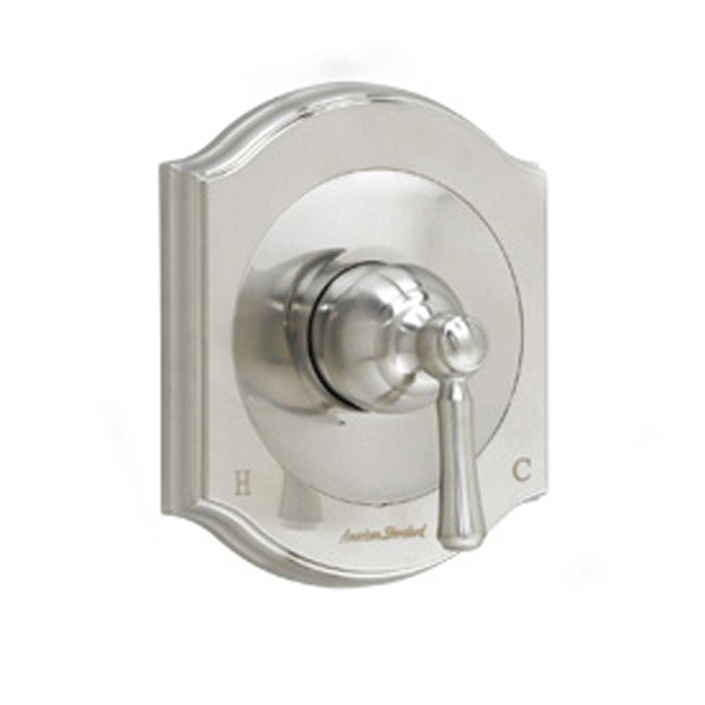 Portsmouth 1-Handle Valve Trim Kit in Brushed Nickel with Square Escutcheon