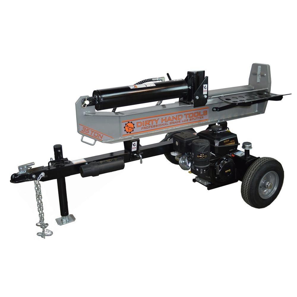 Dirty Hand Tools 35-Ton Gas Log Splitter with KOHLER 277 cc Engine