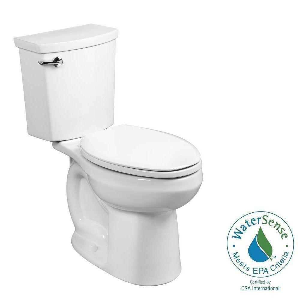 American Standard H2Optimum 2-piece 1.1 GPF Single Flush Elongated Toilet in White