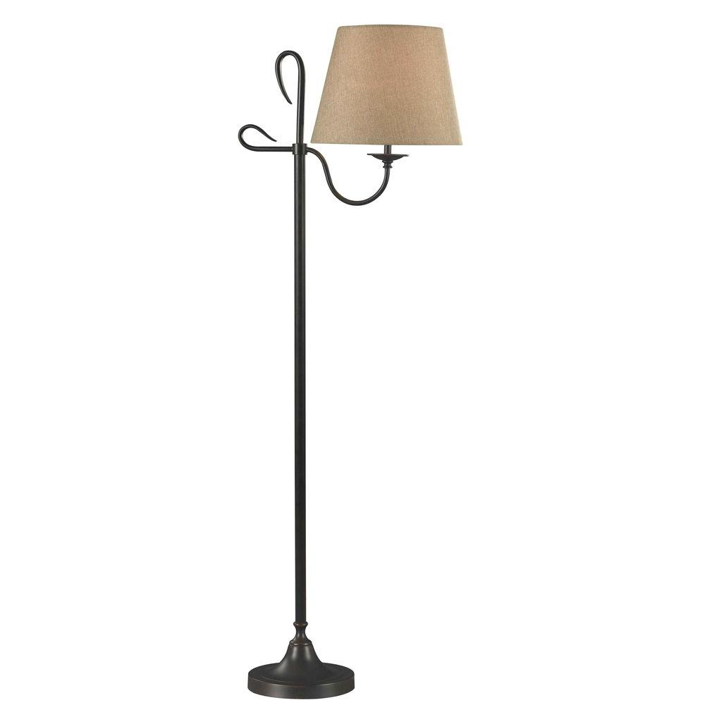 Kenroy Home Cromwell 60 in. Golden Flecked Bronze Floor Lamp-32178GFBR -