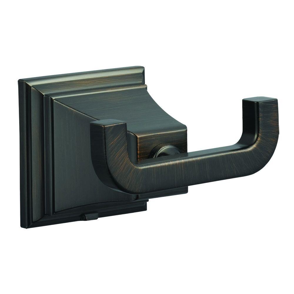Design House Torino Double Robe Hook in Brushed Bronze-560441 - The