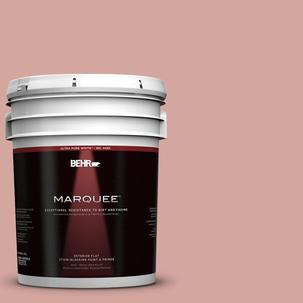 5-gal. #200E-3 Cinnamon Cocoa Flat Exterior Paint
