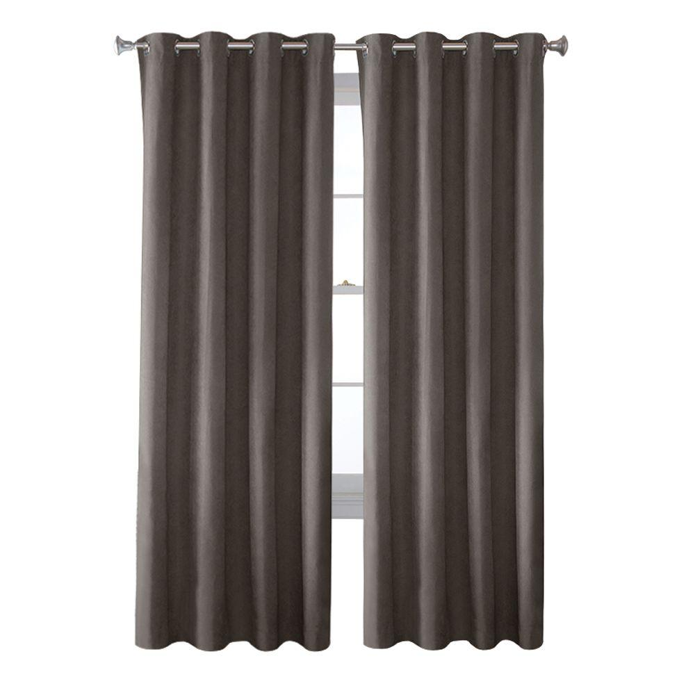 curtains drapes window treatments the home depot faux suede grommet curtain