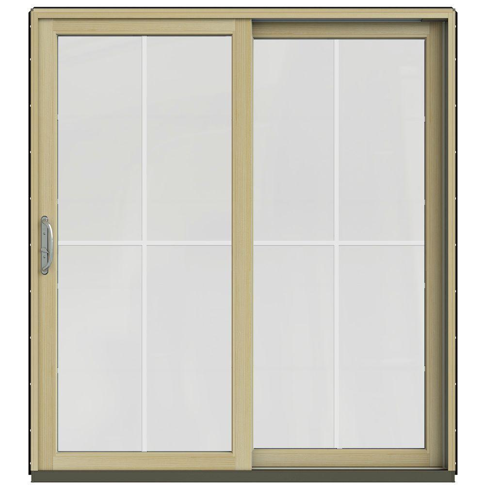 Jeld wen 59 1 4 in x 79 1 2 in w 2500 chestnut bronze for Sliding glass doors jeld wen
