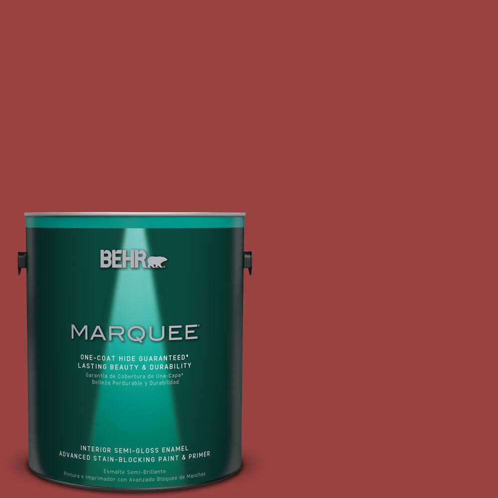 BEHR MARQUEE 1 gal. #MQ1-10 Red My Mind One-Coat Hide Semi-Gloss