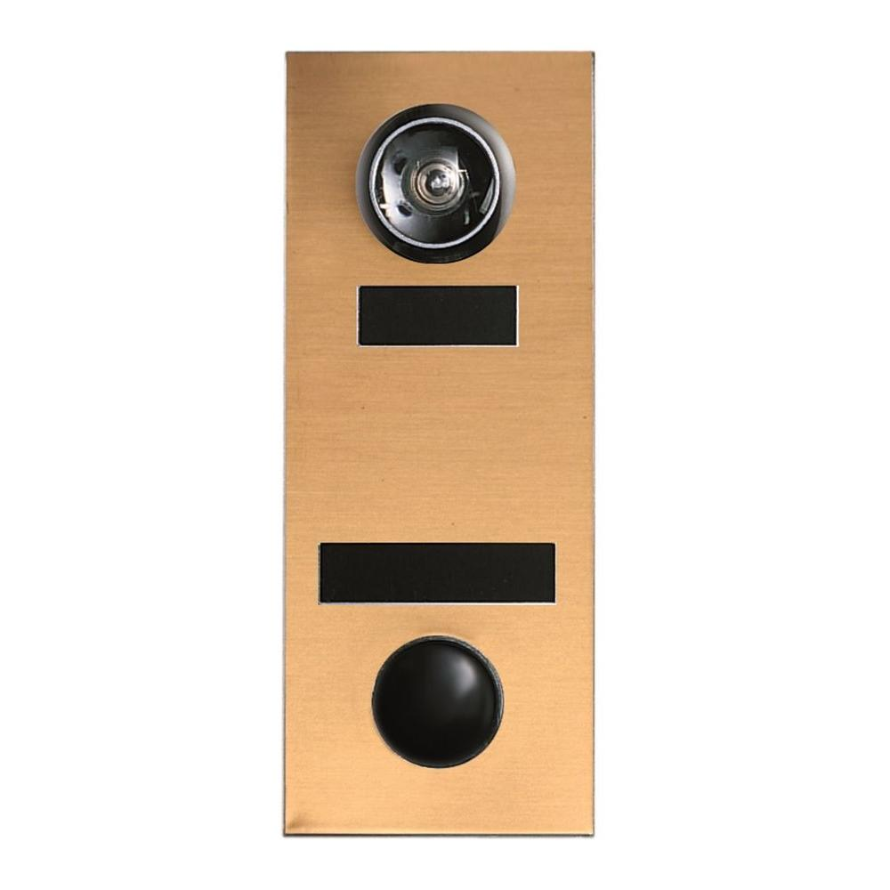 145 Degree Bronze Door Viewer with Mechanical Chime
