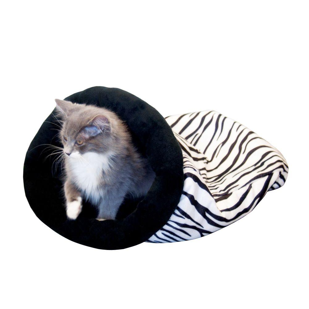 K&H Pet Products Kitty Sack Medium Leopard Self Warming Cat Bed-3494