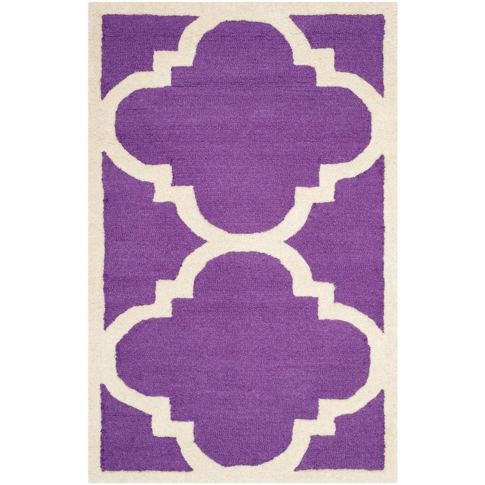 Cambridge Purple/Ivory 2 ft. 6 in. x 4 ft. Area Rug