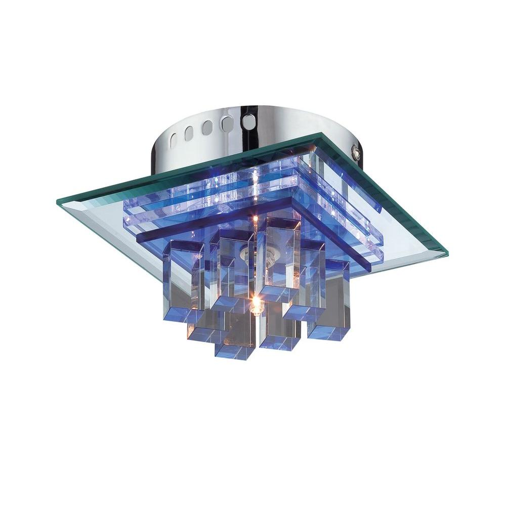 Illumine 4-Light 3 in. Steel Semi-Flush Mount with Clear Glass Shade