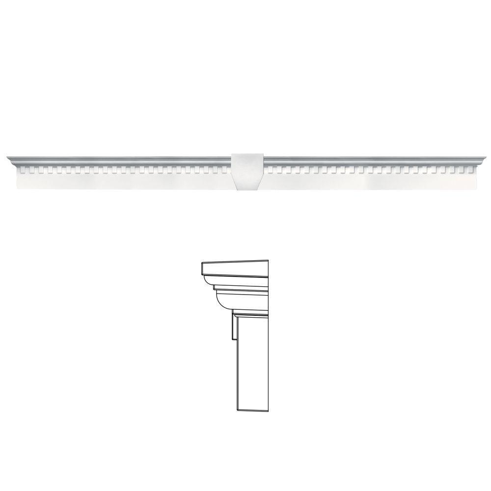 6 in. x 65 5/8 in. Classic Dentil Window Header with
