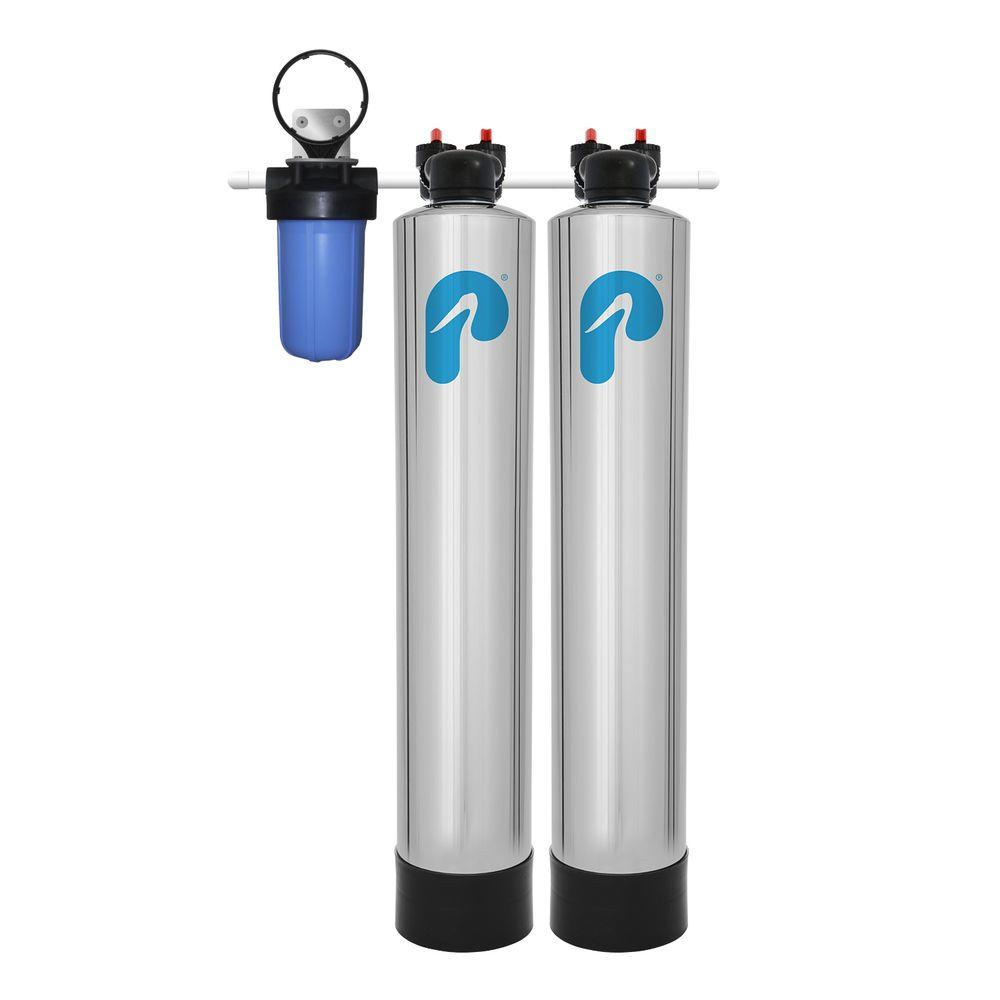 Pelican Water 15 GPM Whole House Water Filtration and NaturSoft Salt-Free
