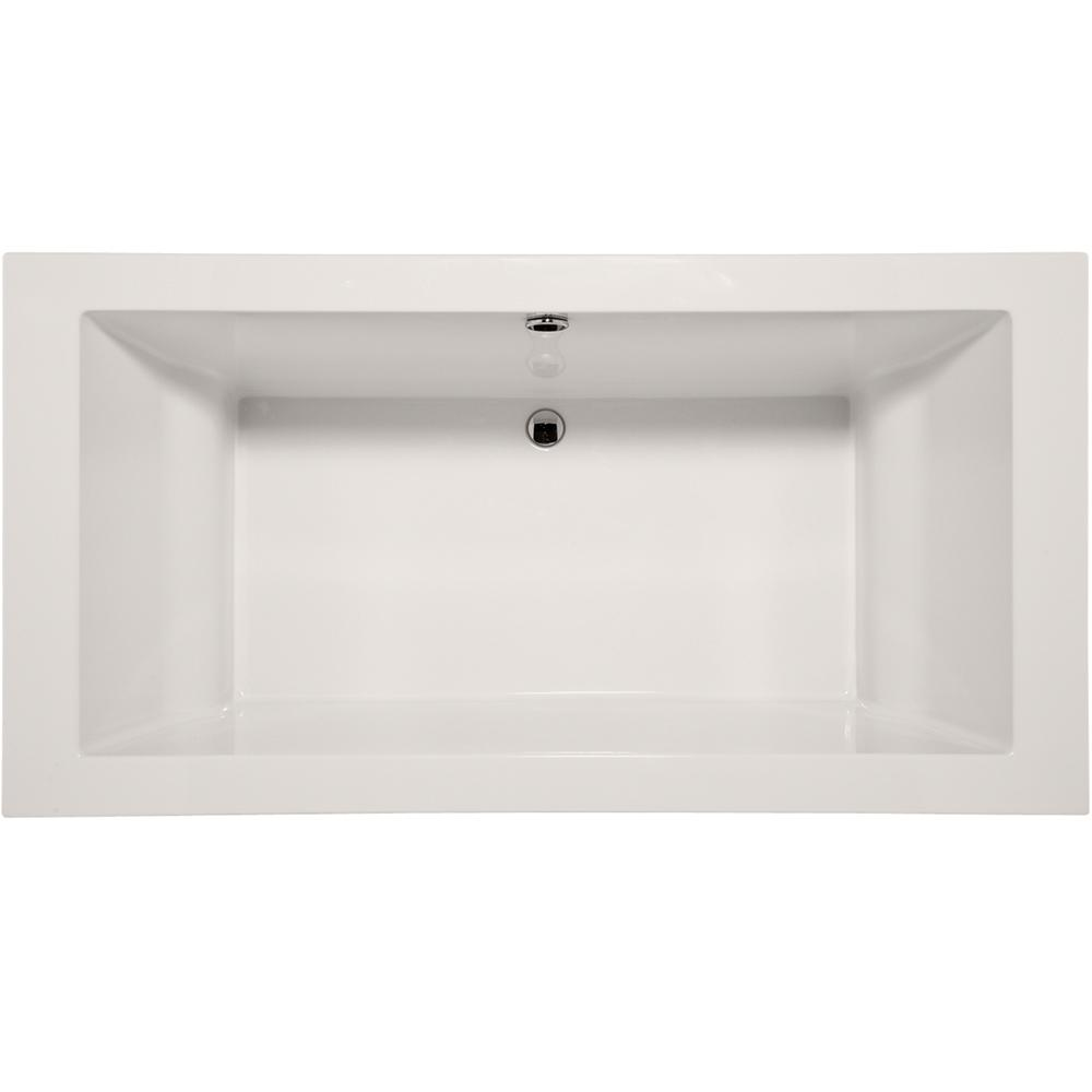 Davinci 6 ft. Acrylic Flatbottom Non-Whirlpool Freestanding Bathtub in White