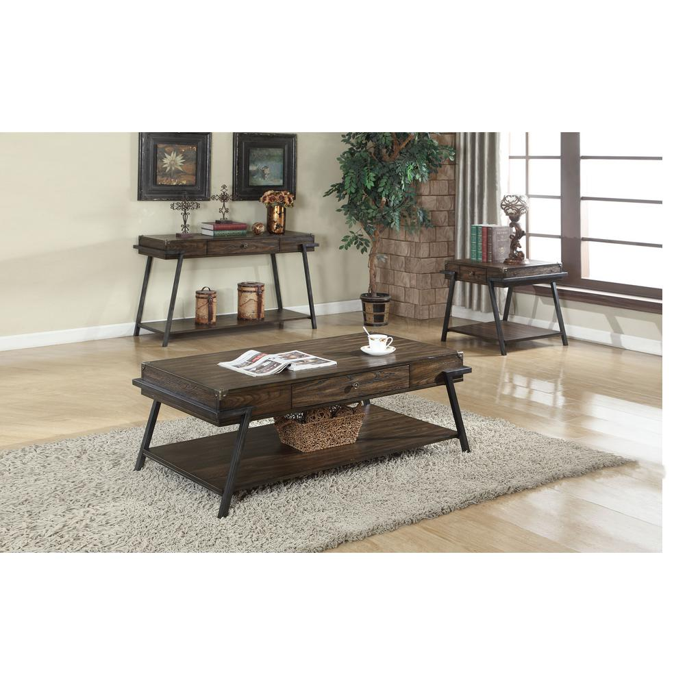 Macall Dark Oak Storage End Table