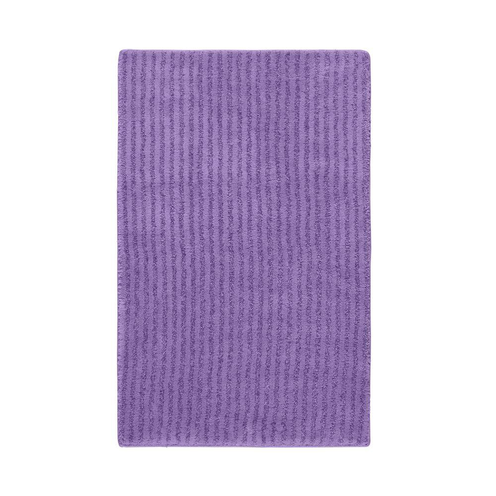 Garland rug sheridan purple 24 in x 40 in washable for Rugs with purple accents