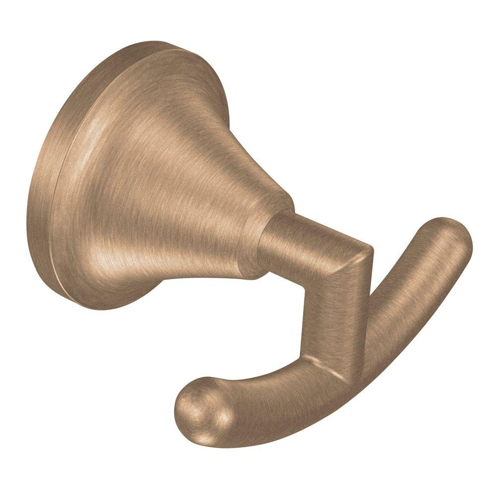 MOEN Icon Double Robe Hook in Brushed Bronze-DISCONTINUED