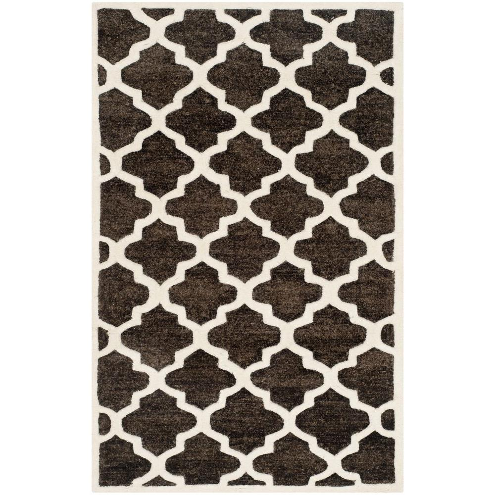 Precious Charcoal 3 ft. x 5 ft. Area Rug