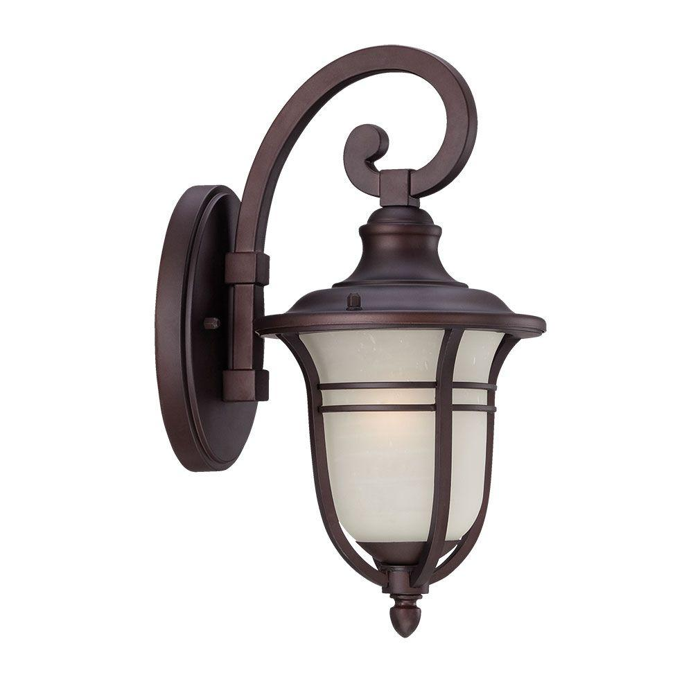 Montclair Collection 1-Light Outdoor Architectural Bronze Wall Mount Light