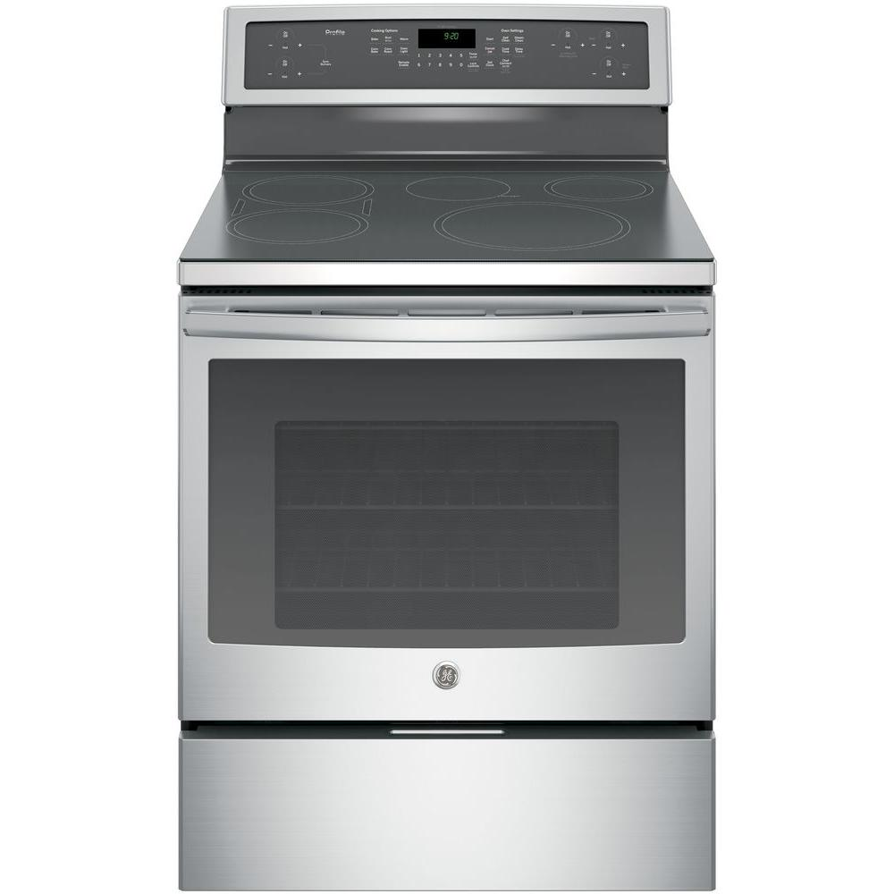 30 in. 5.3 cu. ft. Induction Electric Range with Self-Cleaning Convection
