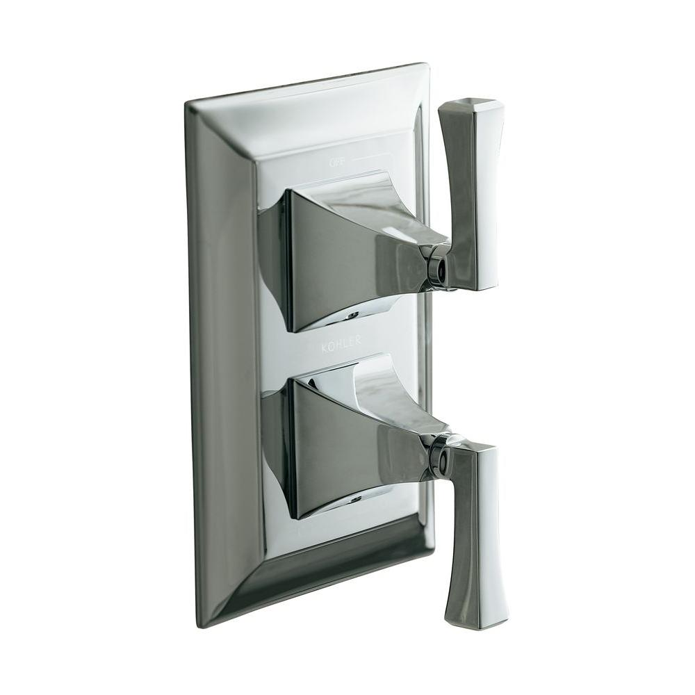 KOHLER Memoirs 2-Handle Stately Thermostatic Valve Trim Kit in Polished Chrome (Valve Not Included)
