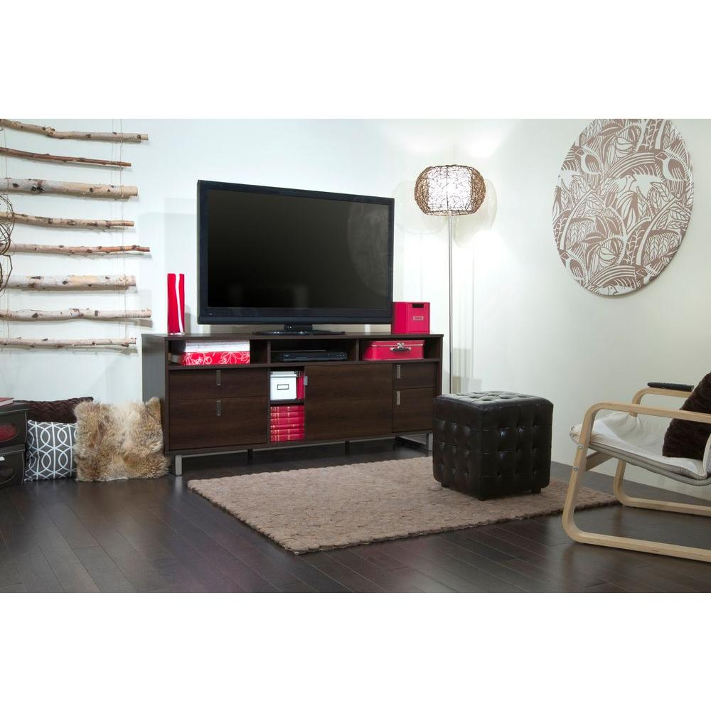 South Shore Uber TV Stand in Mocha