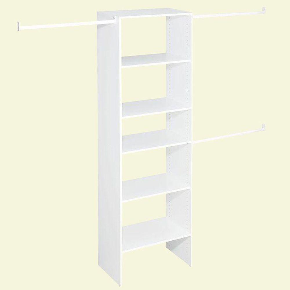ClosetMaid Selectives 25 in. White Custom Closet Organizer
