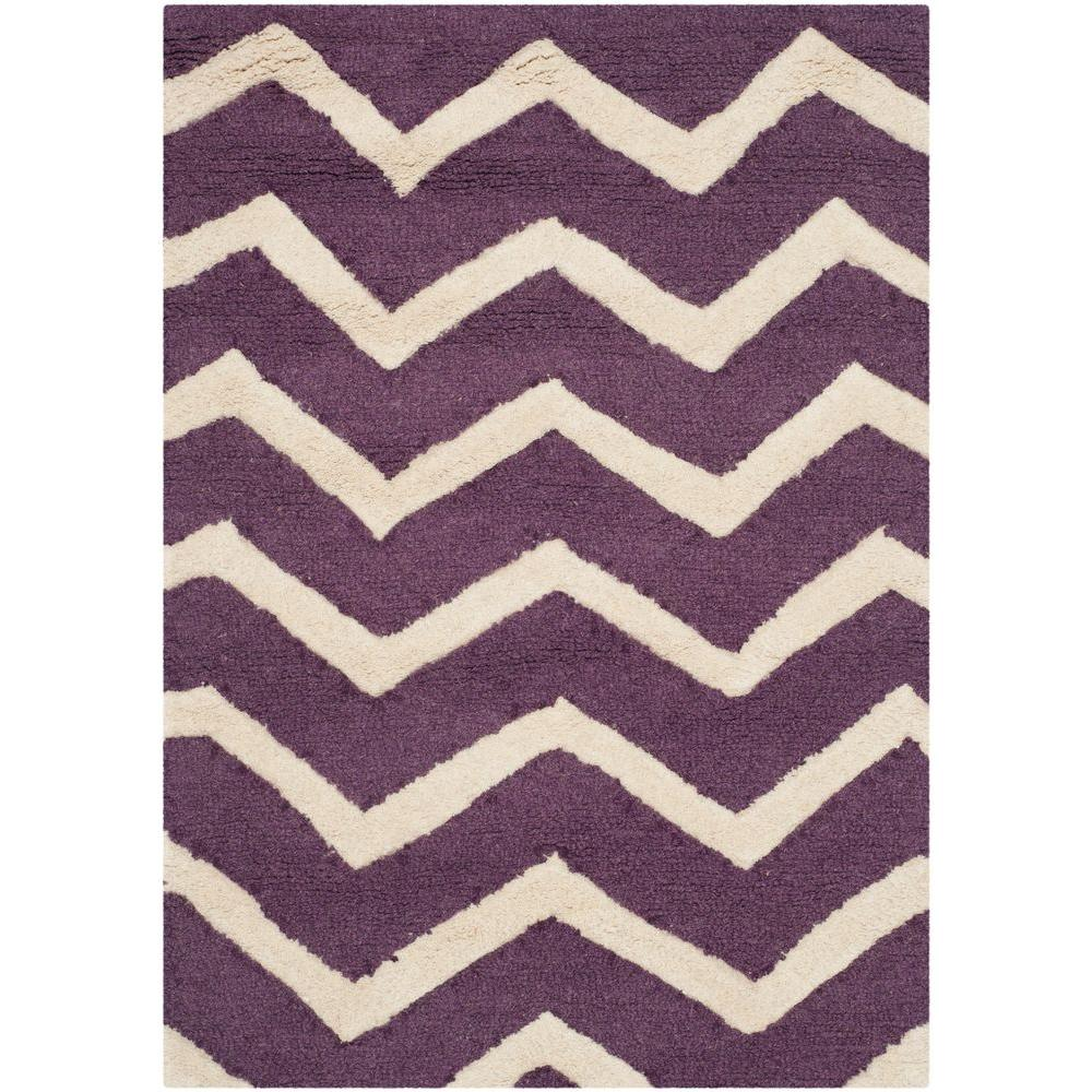 Safavieh Cambridge Purple/Ivory 2 ft. x 3 ft. Area Rug