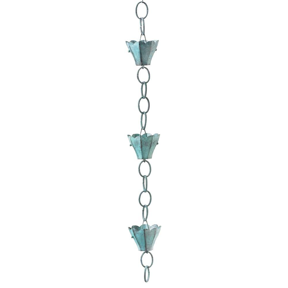 Good Directions Blue Verde 6 Cup Tulip Rain Chain-DISCONTINUED