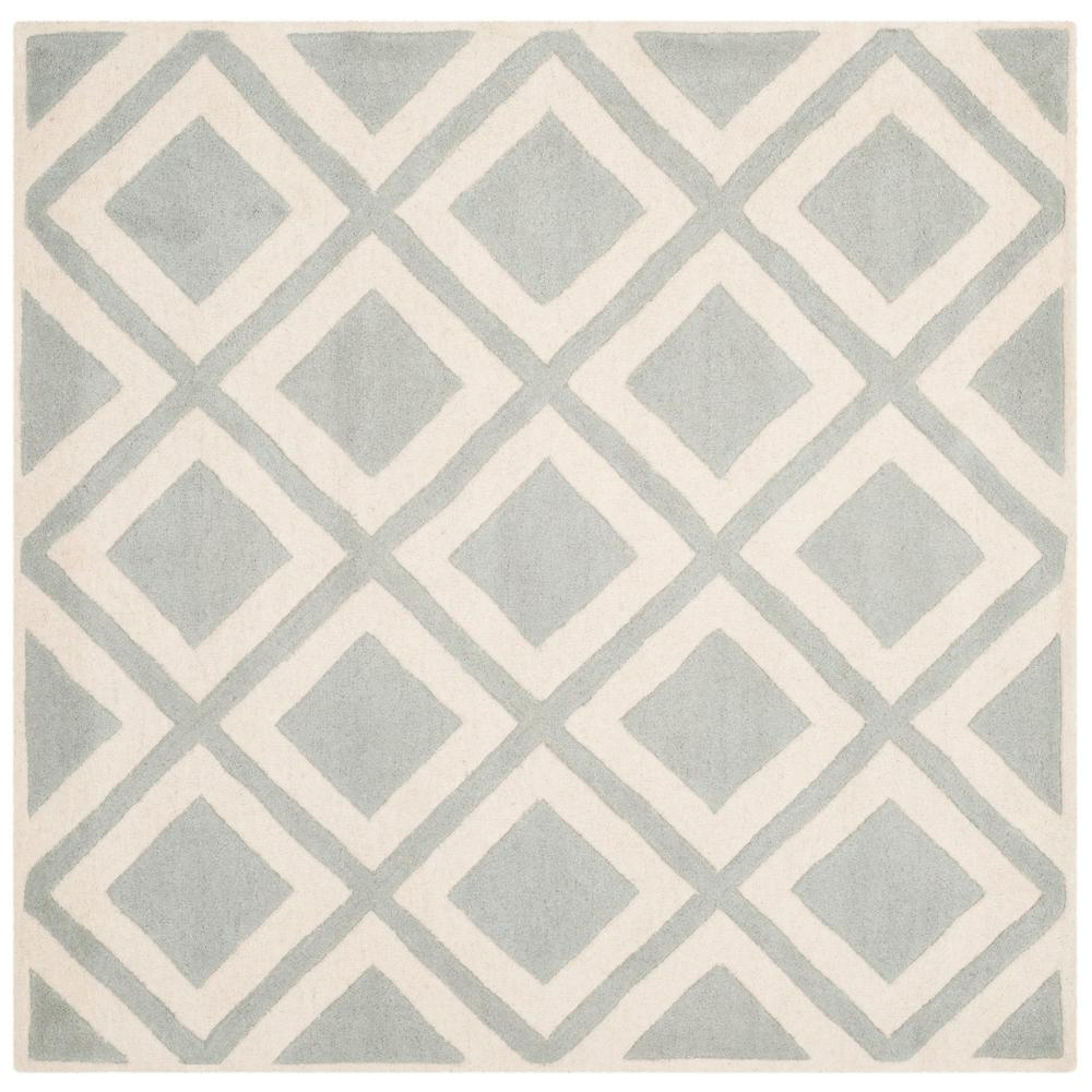 Chatham Gray/Ivory 5 ft. x 5 ft. Square Area Rug