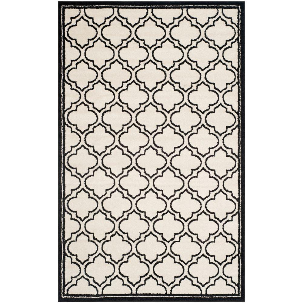 Amherst Ivory/Anthracite 5 ft. x 8 ft. Indoor/Outdoor Area Rug