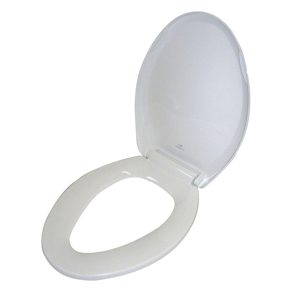 Barclay Products Soft Close Elongated Closed Front Toilet Seat in White