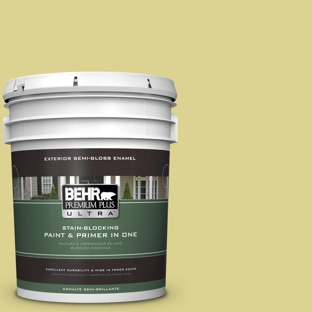 5 gal. #T17-16 Thats My Lime Semi-Gloss Enamel Exterior Paint
