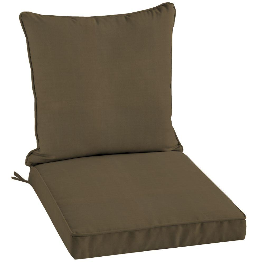 Arden Canvas Cocoa 2-Piece Welted Outdoor Chair Cushion-DISCONTINUED