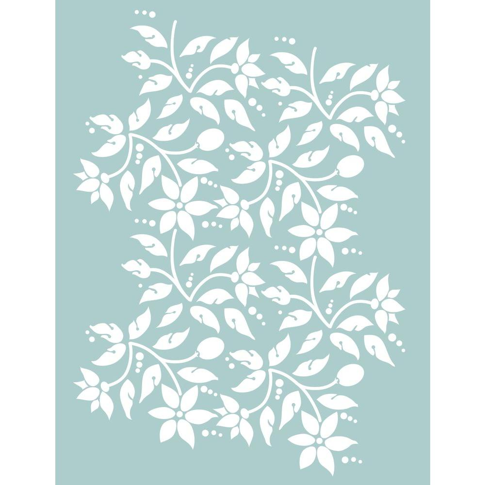 DecoArt 8.5 x 11 in. Jacobean Floral Stencil