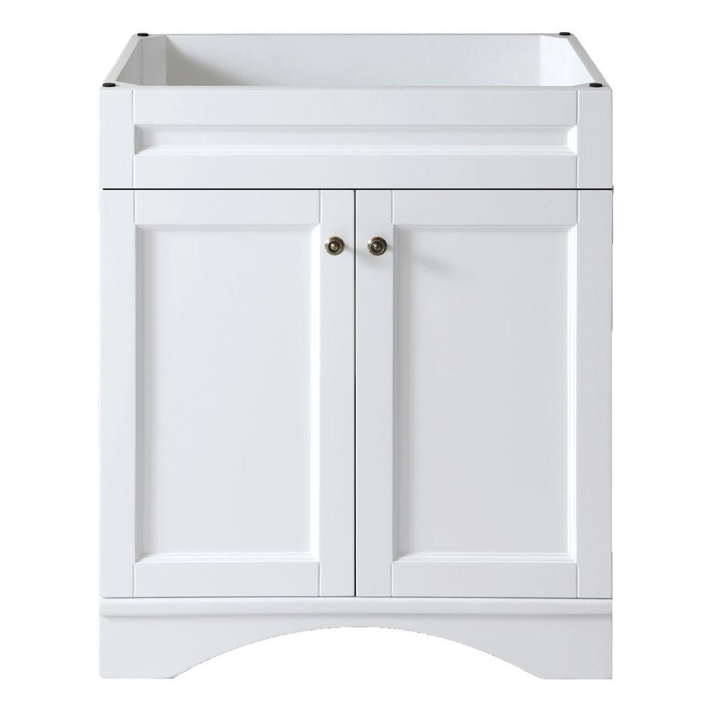 Virtu USA Elise 30 in. Vanity Cabinet Only in White-DISCONTINUED