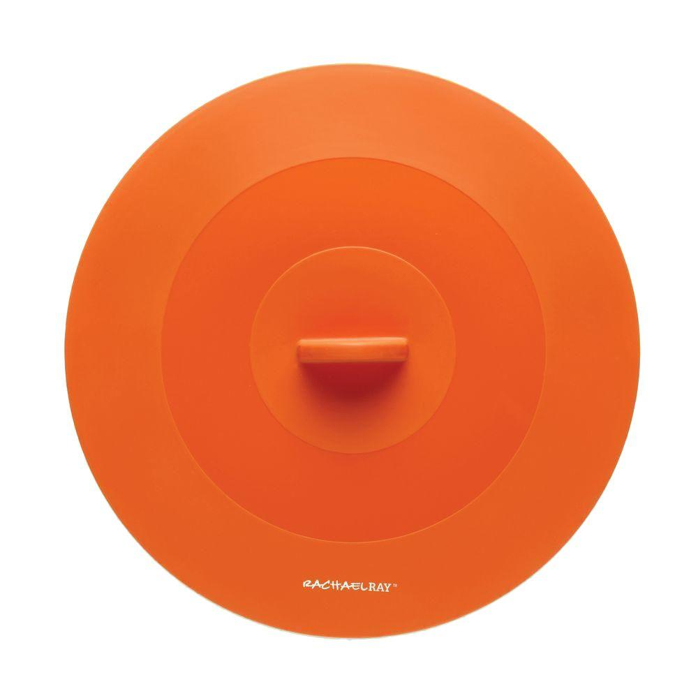 Rachael Ray Accessories 11-1/2 in. Top This Suction Lid in Orange